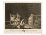 Winding, Warping with a New Improved Warping Mill, Plate VII The Linen Manufactory of Ireland, 1791 Giclee Print by William Hincks