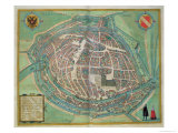 Map of Strasbourg, from Civitates Orbis Terrarum by Georg Braun Giclee Print by Joris Hoefnagel