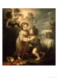The Infants Christ and John the Baptist Giclee Print by Bartolome Esteban Murillo