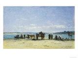 The Breton Fishermen's Wives, 1870-73 Giclee Print by Eugène Boudin