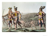 The Chiefs of Florida on Their Way to War, c.1820 Giclee Print by Gallo Gallina
