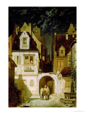 Corner of a German Town by Moonlight Gicleetryck av Carl Spitzweg