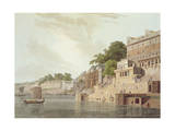 Dusasumade Gaut, Benares, River Ganges, Oriental Scenery: Twenty Four Views in Hindoostan, 1796 Giclee Print by Thomas & William Daniell