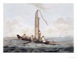 Sailing Canoe of Otaheite, from 'Views in the South Seas', Pub. 1792 Giclee Print by John Webber