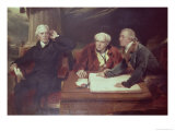 Sir Francis Baring, Banker and Director of the East India Company, with His Associates Giclee Print by Thomas Lawrence