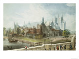 Westminster Hall and Abbey, Engraved by Daniel Havell Giclee Print by John Gendall