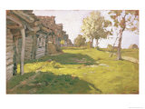 Sunlit Day. a Small Village, 1898 Giclee Print by Isaak Ilyich Levitan