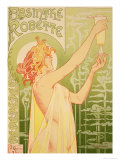 Reproduction of a Poster Advertising 'Robette Absinthe', 1896 Lámina giclée por Privat Livemont