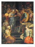 The Marriage of the Virgin, 1523 Giclée-tryk af Rosso Fiorentino (Battista di Jacopo)