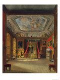 Queen Anne's Bed, Windsor Castle, from Royal Residences, Engraved by Thomas Sutherland Giclee Print by Charles Wild