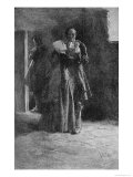 Giles Corey in Prison, Engraved by Frank French Giclee Print by Howard Pyle