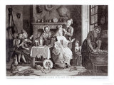 High Life Below Stairs, Engraved by Caldwell, Pub. in 1772 Giclee Print by John Collet