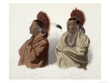 Massika and Wakusasse, Plate 3, Travels in the Interior of North America, c.1844 Giclee Print by Karl Bodmer