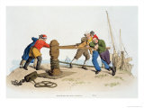 Fishermen at a Capstan, from Costume of Great Britain, Published by William Miller, 1805 Giclee Print by William Henry Pyne