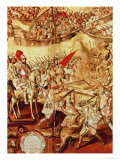 Conquest of Mexico, One of a Series of 24 Panels, 1698 Giclee Print by Miguel Gonzalez