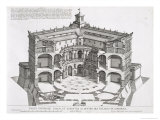 Cross-Section of Villa Caprarola, Bagnaia Giclee Print by Giovanni Battista Falda