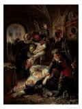 Hired Assassins Killing Tzar Boris Fyodorevich Godunov's Son, 1862 Giclee Print by Konstantin Egorovich Makovsky