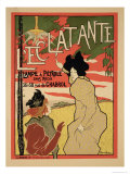 Reproduction of a Poster Advertising 'L'Eclatante', a Wickless Paraffin Lamp, 1895 Gicleetryck av Manuel Robbe