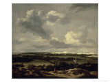 Landscape with Dunes Near Haarlem Giclee Print by Jacob Isaaksz. Or Isaacksz. Van Ruisdael