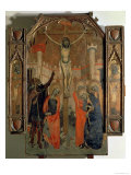 The Crucifixion, Central Panel of the Great Altarpiece of Almudaina, Completed in 1358 Giclee Print by F. Bassa