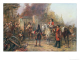 The Garrison of the Village Had at Last Surrendered to Lord Oaksey Giclee Print by Robert Alexander Hillingford