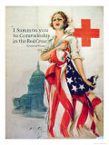 I Summon You to Comradeship in the Red Cross, 1st World War Poster, 1918 Giclee Print by Harrison Fisher