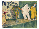 Reproduction of a Poster Advertising 'Pierrefort Artistic Posters', Rue Bonaparte, 1897 Giclee Print by Henri Gabriel Ibels