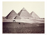 The Pyramids of El-Geezah, from the South-West, 1858 Giclee Print by Francis Frith