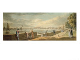 View Towards Westminster from the Terrace of Somerset House Giclee Print by Paul Sandby
