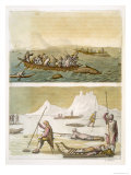 Greenland: Whale Fishing and Seal Hunting, Le Costume Ancien ou Moderne, c.1820-30 Giclee Print by Gallo Gallina