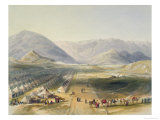 Encampment of Kandahar Army, Scenery, Inhabitants and Costumes of Afghanistan, Engraved, R.Carrick Giclee Print by James Rattray