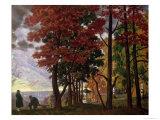 Autumn, 1918 Giclee Print by B. M. Kustodiev
