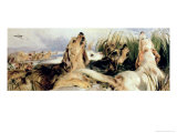 Otter Hounds Giclee Print by Edwin Henry Landseer