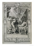 Semele is Consumed by Jupiter's Fire, 1731 Giclee Print by Bernard Picart
