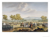 Imperial Guard Manoeuvring in the Presence of the Two Emperors, Tilsit, 1807, Engraved Bovinet Giclee Print by Jacques Francois Joseph Swebach