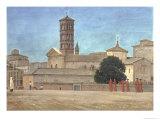 View of the Campanile of Santa Francesca Romana, Rome, 1873 Giclee Print by Walter Crane