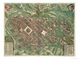 Map of Bratislava, from Civitates Orbis Terrarum by Georg Braun Giclee Print by Joris Hoefnagel