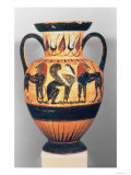 Chalcidian Black Figure Amphora, Sphinx Flanked by Two Lions, by the Polyphemus Painter, 540-30 BC Giclee Print by  Greek