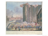 The Taking of the Bastille by the French Guards and the Bourgeoisie, 14th July 1789 Giclee Print by Jean-francois Janinet