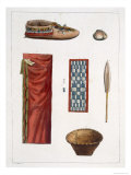 Objects Belonging to Canadian Indians Giclee Print by Gallo Gallina