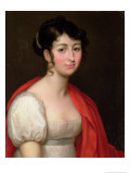Portrait of Madame Camille Teisseire, Nee Adelaide-Helene-Marie Perier Giclee Print by Jean Baptiste Francois Desoria