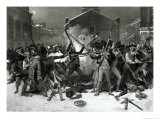 The Boston Massacre, 5th March 1770 Giclee Print by Alonzo Chappel