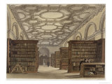Interior of the Public Library, Cambridge, The History of Cambridge, Engraved by Daniel Havell Giclee Print by Frederick Mackenzie