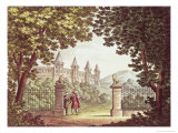 The Gardens of Windsor Castle, Set Design For the Opera Anna Bolena, Engraved by Ricordi Giclee Print by Alessandro Sanquirico