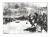 First Blood in the Revolution, Opposite the Admiralty Building, St. Petersburg, 1905 Giclee Print by H.w. Koekkoek