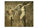 Christ on the Cross and the Good Thief, c.1565 Giclée-tryk af Titian (Tiziano Vecelli)