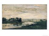 Evening on the Oise, 1872 Giclee Print by Charles-Francois Daubigny