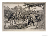 Old Physic Garden of the Society of Apothecaries at Chelsea, 1750, Engraved Thomas W. Lascelles Giclee Print by Henry Gillard Glindoni