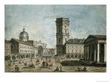 View of Nevsky Prospekt, St. Petersburg, 1810 Giclée-Druck von Fedor Aleksandrovich Vasiliev