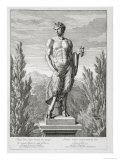 Statue of a Satyr Holding Grapes, Versailles, 1672, Vues et Plans de Versailles, c.1672-89 Giclee Print by Jean Lepautre